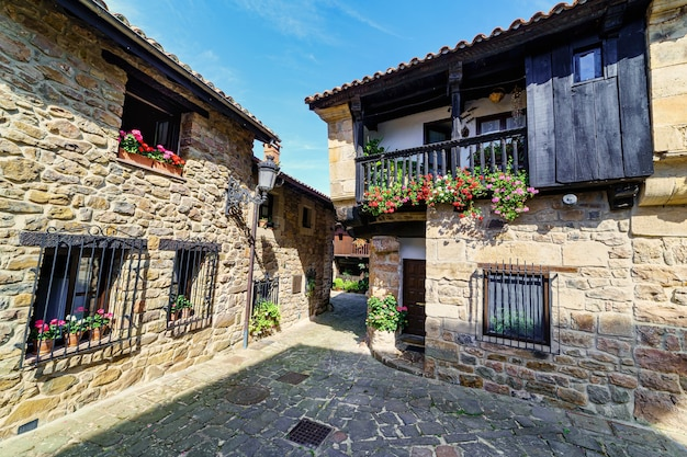 Old mountain village with stone houses and cobbled alleys