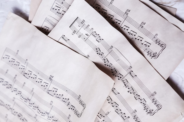 Old music notes