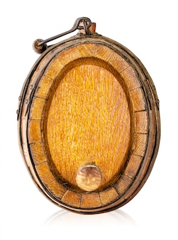 Old oak wooden barrel