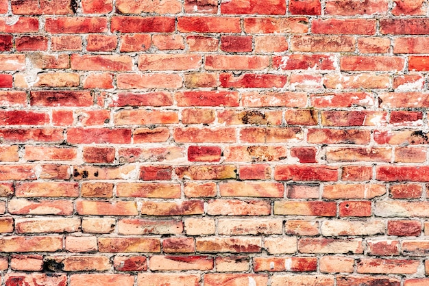 Old orange and white brick wall background