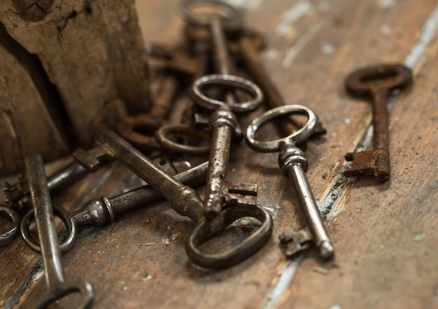 Old ornate keys