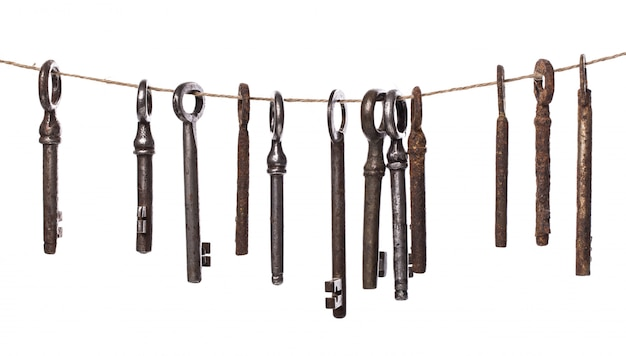 Old ornate keys