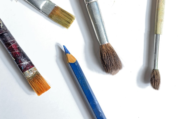 Old paint brushes.