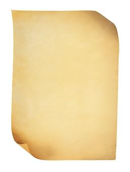 Старая бумага, изолированные на белом фоне.