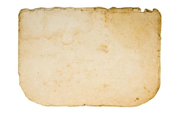 白い背景で隔離の古い紙