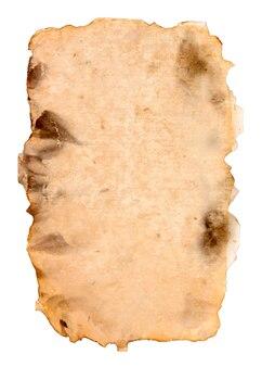 오래 된 종이 흰색 절연