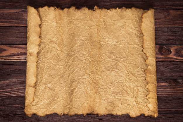Old paper manuscript on the desk vintage design