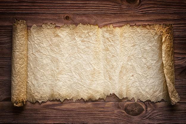 Рукопись старой бумаги на столе, старинный фон для текста
