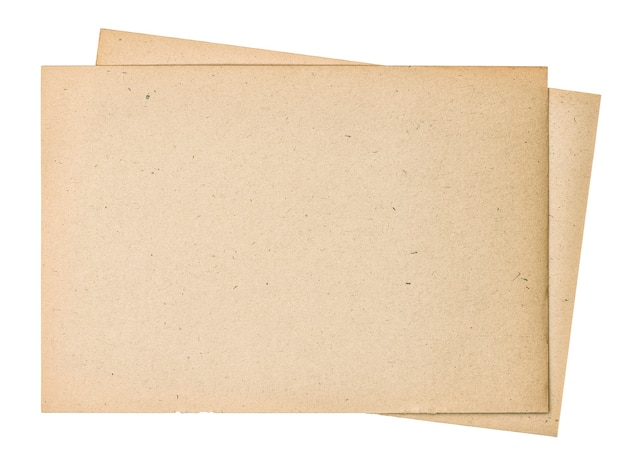 Old paper sheets. used book pages with edges isolated on white background
