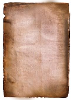 Старый пергамент с обожженными и перфорированными краями по бокам коричневого цвета