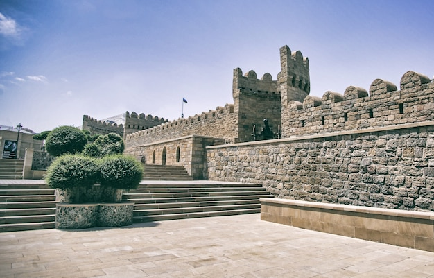 Old part of baku city in azerbaijan