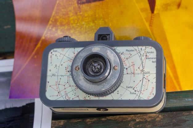 古い写真のカメラ