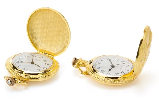 고립 된 오래 된 회 중 시계