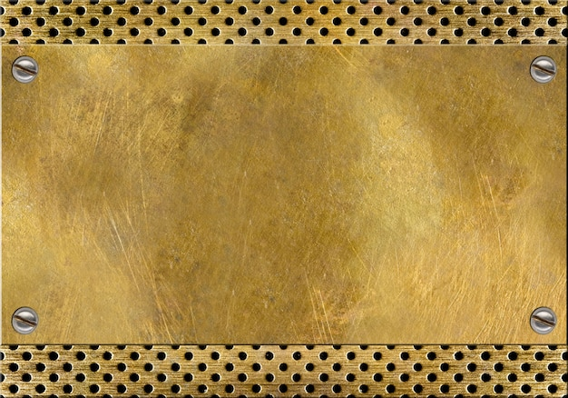 古い磨かれた真鍮のテクスチャ背景
