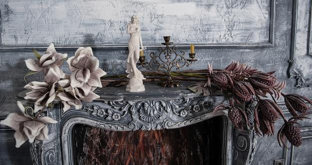 Old porcelain on the table. tea-set. handmade crockery. retro.