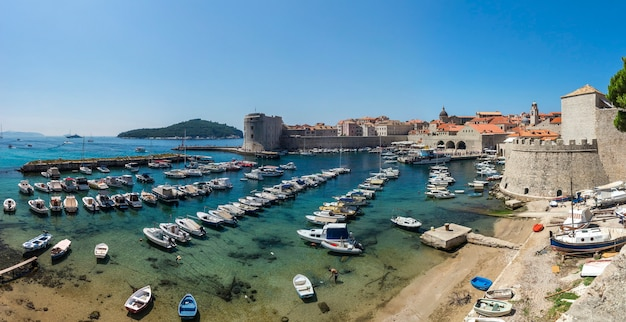 The old port in dubrovnik,  croatia