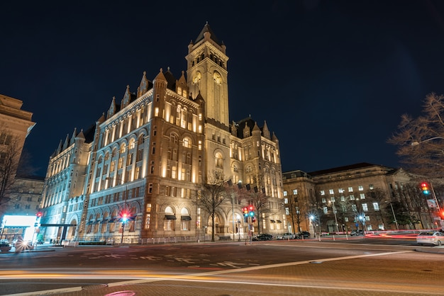 Old post office washington dc, united states, usa downtown, architecture and landmark
