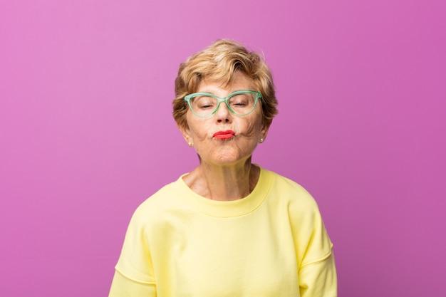 Old pretty woman portrait