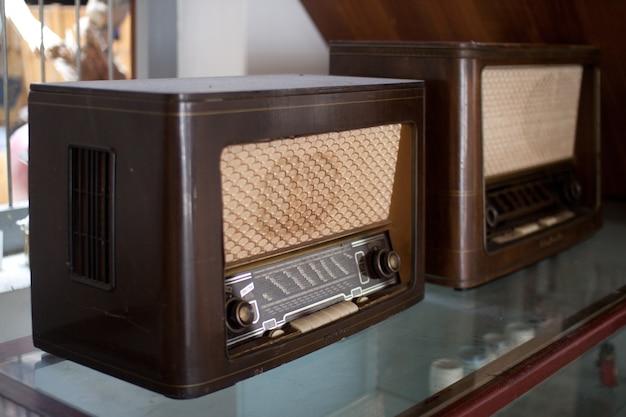 Old radio is on display.