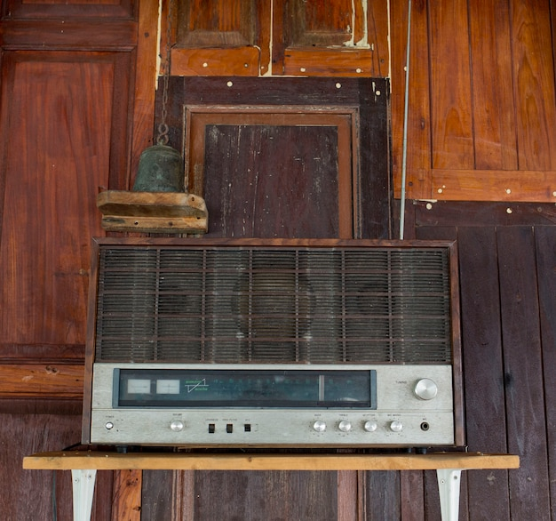 Old radio in thai house