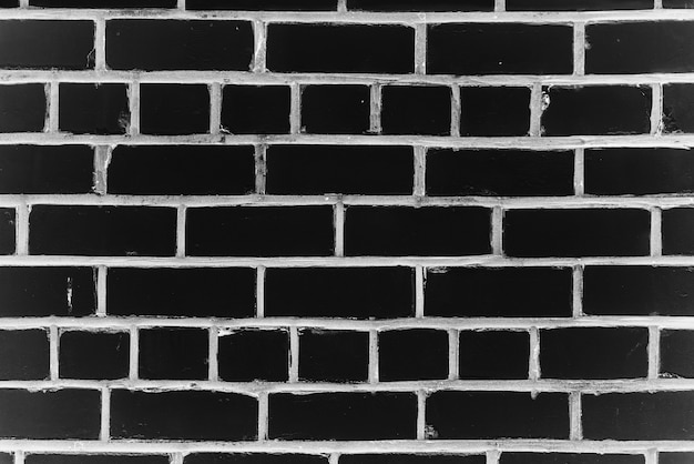 Old realistic brick wall made of black brick in different shads