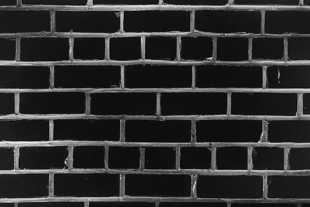 Старая реалистичная кирпичная стена из черного кирпича разных оттенков