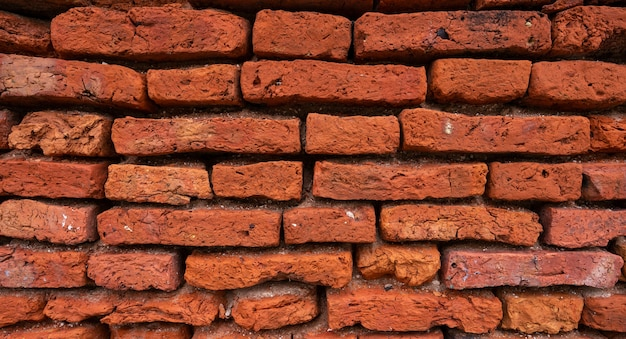 Old red brick textured for background
