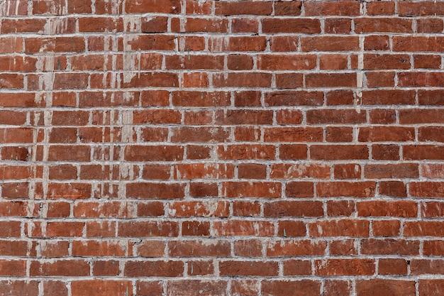 Старая красная кирпичная стена на фоновом изображении