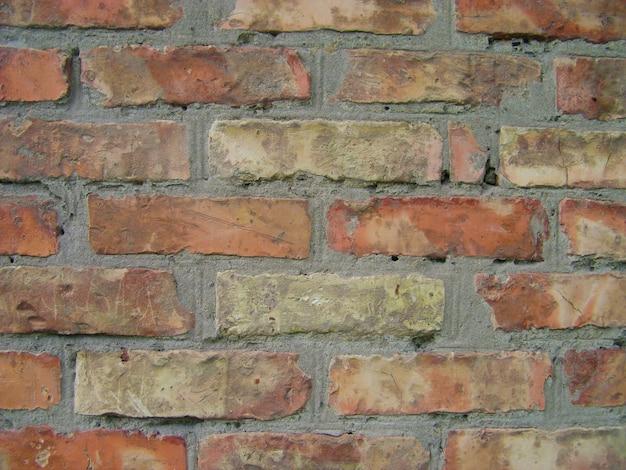 古い赤レンガの壁のテクスチャ