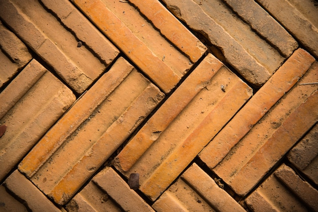 Old red pattern of brick wall background and texture