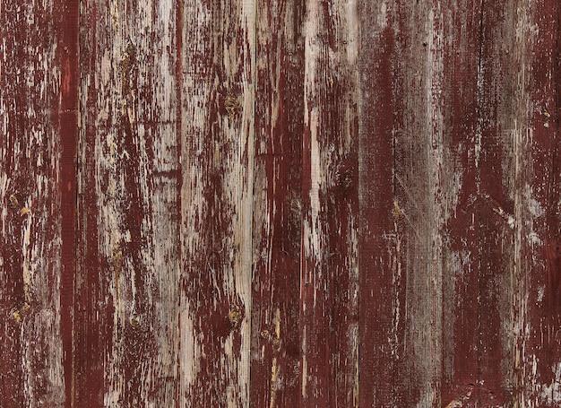 古い赤い木の質感の背景。水平配置。