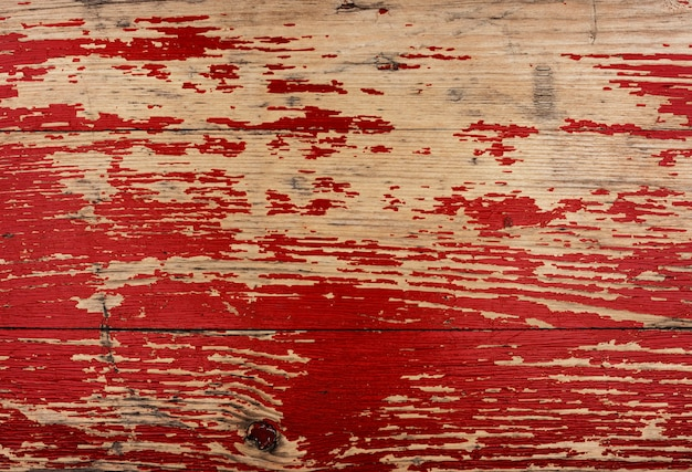 古い赤い木製の織り目加工の背景デザイン