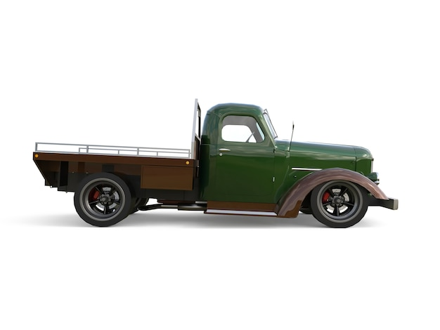 Old restored pickup. pick-up in the style of hot rod. 3d rendering.