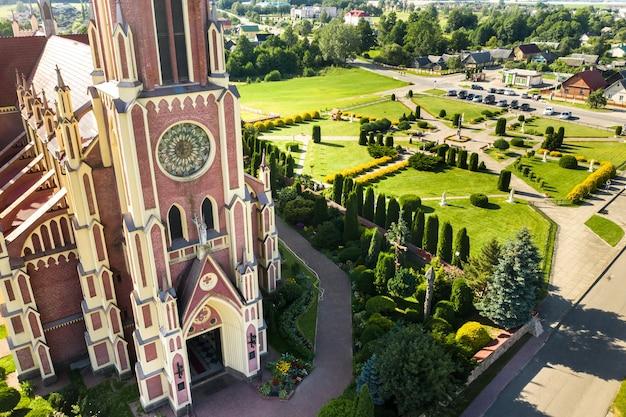 Old retro church of the holy trinity in gerviaty, grodno region, belarus.