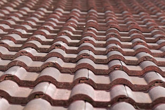 오래 된 지붕 타일 텍스처 추상적 인 배경