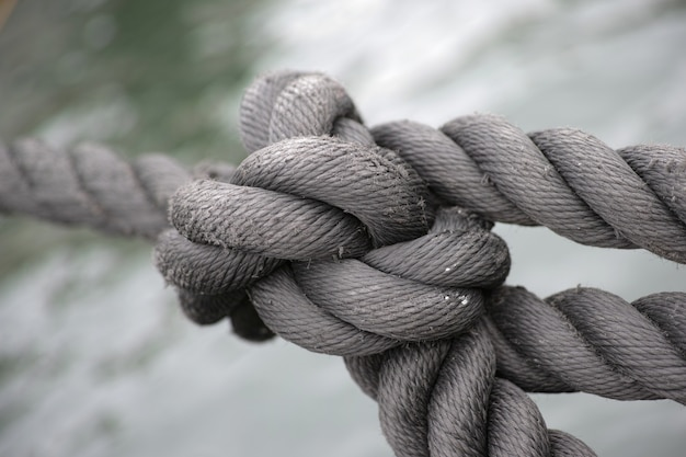 Old rope knot