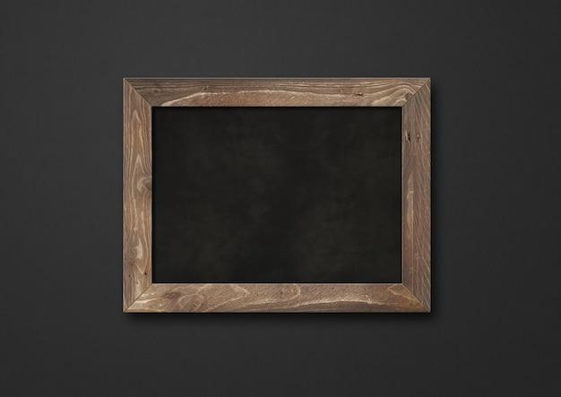 黒で隔離された古い素朴な黒板