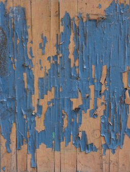 Old rustic blue wood background
