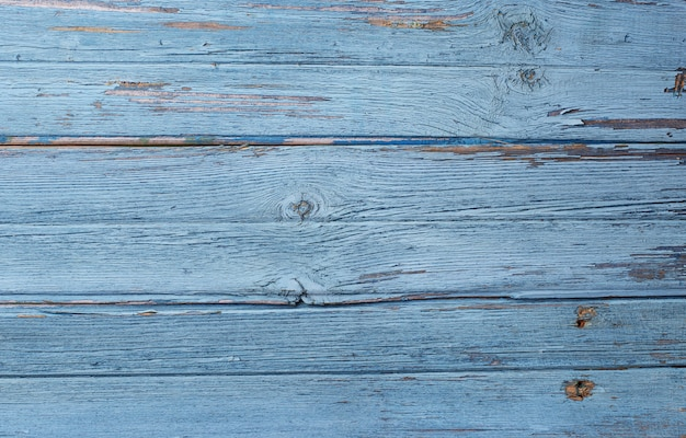 Old rustic blue wooden background