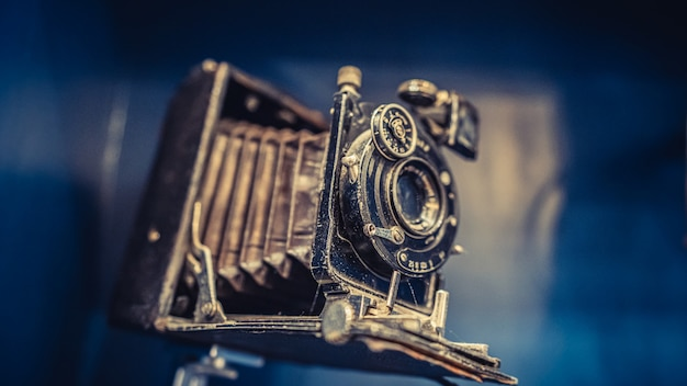 Old rusty camera