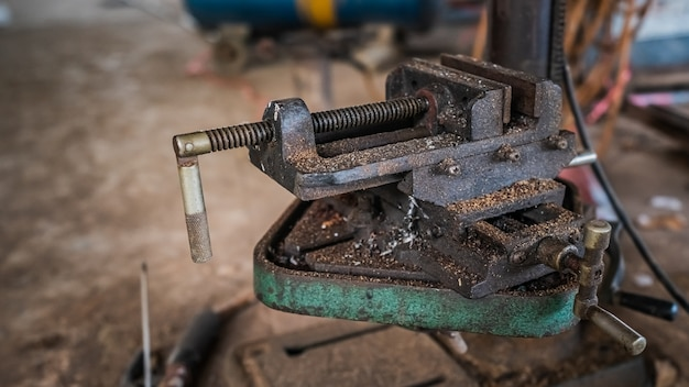 Old rusty engine machine