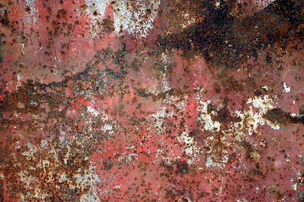 Old rusty flat metal surface