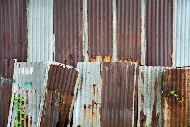 Old and rusty galvanized iron roof texture