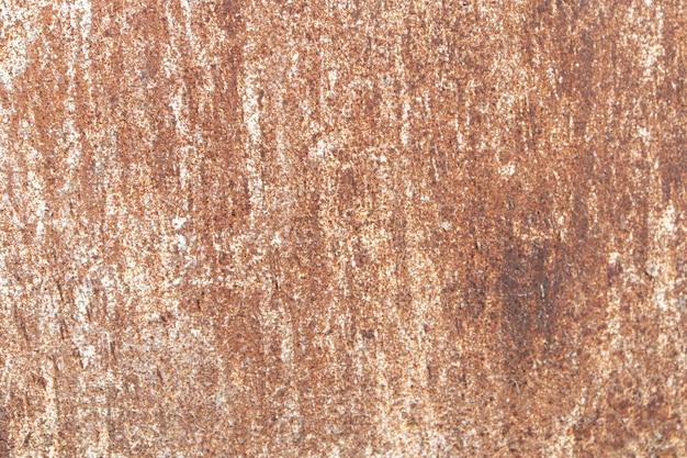 白い染みのある古いさびた鉄。テクスチャード加工された表面の背景。
