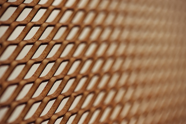 Old rusty mesh in blurring.