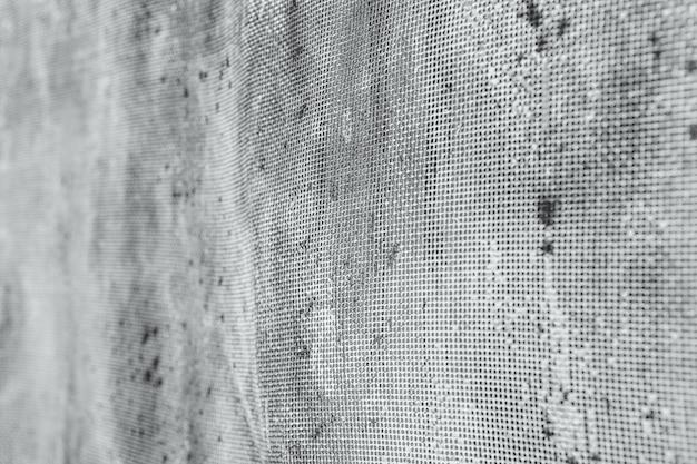 Old rusty mesh in blurring