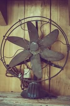 Old rusty metal fan