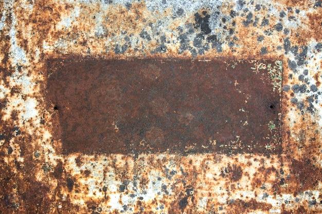 Old rusty metal frame