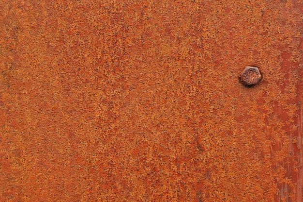Old rusty metal plaque