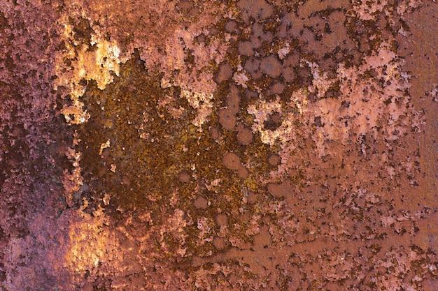 오래 된 녹슨 금속 시트 추상적 인 배경, 페인트 풍화 강판에 녹